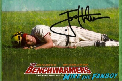 jon Heder signed autograph benchwarmers rare movie poster rare promo hot autograph signature napoliean dynamite