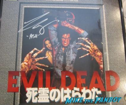evil dead japanese laserdisc signed autograph bruce campbell rare promo ash sam raimi classic