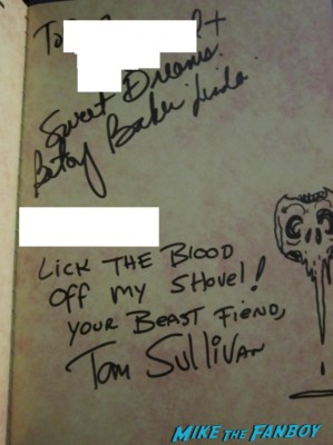 The evil dead cast signed autograph promo poster bruce campbell Betsy Baker, Sarah York, Ellen Sandweiss