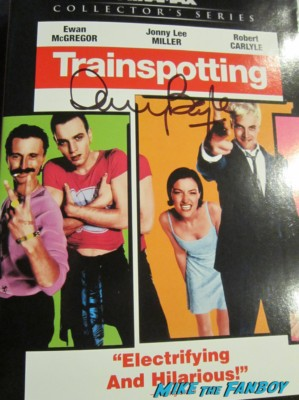 danny boyle signed autograph trainspotting signed dvd cover rare hot ewan mcgregor jonny lee miller rare
