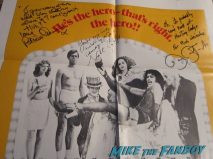nell campbell little nell barry bostwick patricia quinn magenta signed autograph rocky horror picture show one sheet poster rare