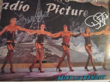 barry bostwick nell campbell little nell signed autograph rocky horror picture show one sheet poster rare