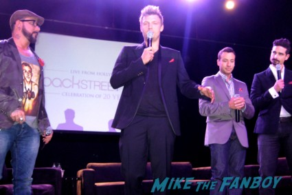 backstreet boys group fan photo hot rare nick carter from the backstreet boys signing autographs at the backstreet boys 20th anniversary celebration in los angeles