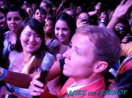 Brian Littrell from the backstreet boys signing autographs at the backstreet boys 20th anniversary celebration in los angeles