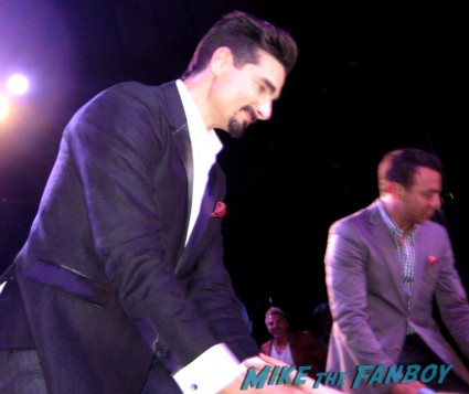 Kevin Richardson from the backstreet boys signing autographs at the backstreet boys 20th anniversary celebration in los angeles