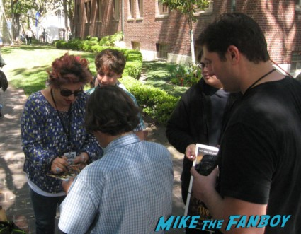 Jenji Kohan signing autographs for fans los angeles festival of books are weeds creator