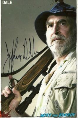 Jeff Demunn Jeffery DeMunn signed autograph the walking dead rare promo photo hot dale rare signature