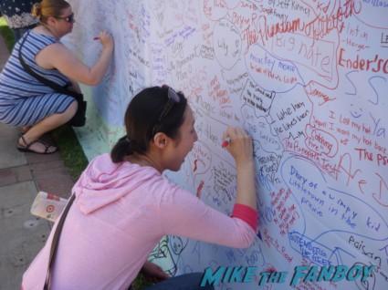 Jenn signing wall