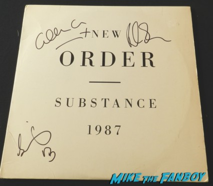 new order signed autograph substance 1987 lp bernard sumner gillian gilbert bernard sumner rare signed signature rare Gillian Gilbert signing autographs for fans fan photo signed autograph new order rare promo hot new order