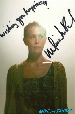 Melissa Mcbride signed autograph the walking dead photo hot rare promo