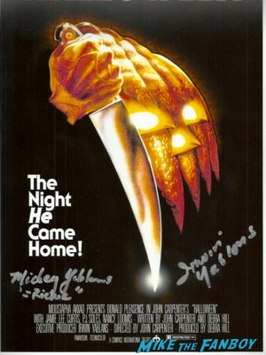 Mickey Yablans signed autograph halloween movie poster promo one sheet Mickey Yablans