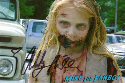 addy Miller the walking dead rare signed autograph promo photo Chris Vogt signed autograph the walking dead mini poster rare