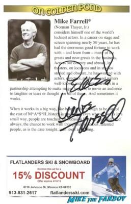 mike farrell signed autograph playbill rare promo mash star rare
