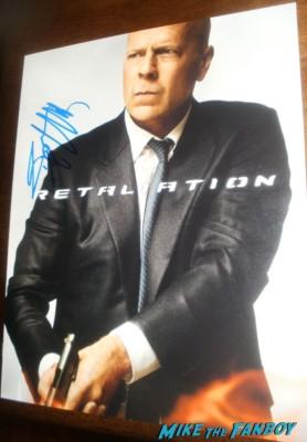 bruce willis signed autograph Bruce Willis Signing Autographs at the G.I. Joe retaliation movie premiere hot sex rare promo