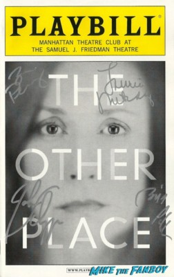 laurie metcalf signed autograph the other place playbill bill pullman hot rare signature