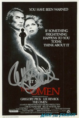 Richard Donner signed autograph the omen rare promo movie poster promo hot sexy rare lee remick richard donner signature