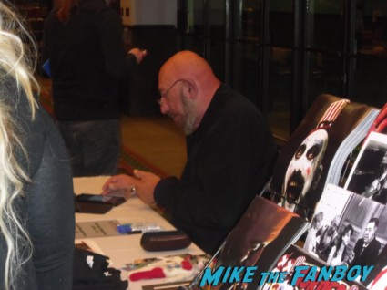 Sig Haig signing autographs for fans rare promo devil's rejects days of the dead