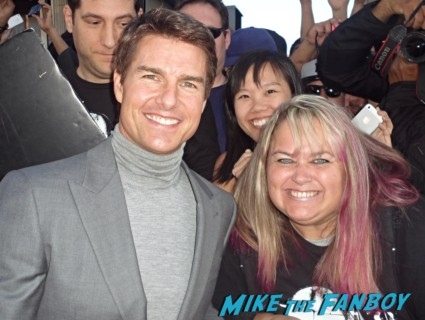 tom cruise fan photo signing autographs for fans rare pinky lovejoy rare