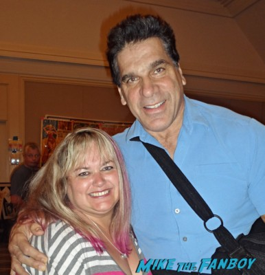 lou ferrigno fan photo signed autograph rare the incredible hulk rare promo photo hot dance