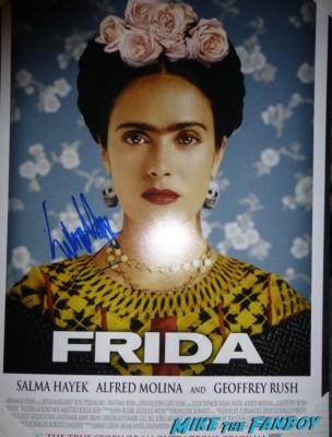 Salma Hayek signature Salma Hayek Laura Dern signing autographs for fans fan photo signing autographs for fans