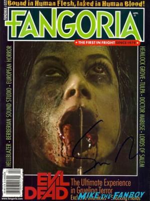 Sam Raimi signed autograph fangoria magazine rare the evil dead rare