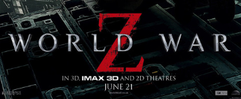 world war z logo movie poster one sheet promo brad pitt hot sexy rare logo rare