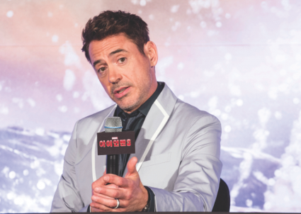 Robert Downey Jr. in Korea to promote IRON MAN 3 photo shoot press photo gallery rare