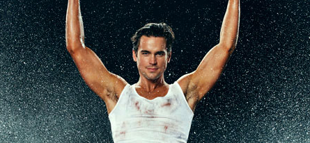 Matt Bomer sexy hot muscle shirt magic mike photo rare armpit sex rare white collar