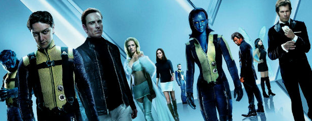 X-Men Days of Future past cast photo header rare promo january jones michael fassbender james mcavoy