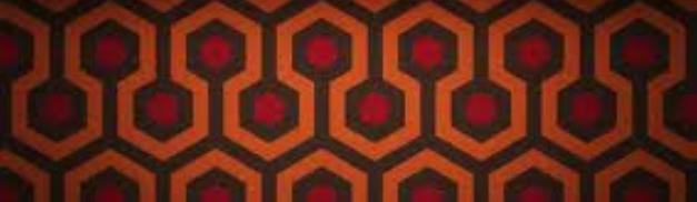 the shining overlook hotel carpet rare hot promo the shining logo rare stanley kubrick promo logo title jack nicholson