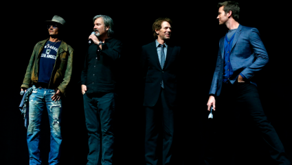 CinemaCon The Lone Ranger panel livestream q and a Johnny Depp, Armie Hammer, director Gore Verbinski and Jerry Bruckheimer