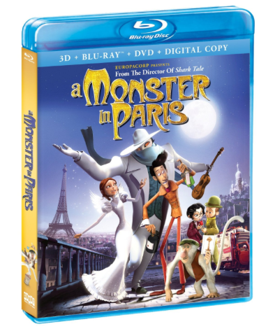 a monster in paris blu ray cover key art rare promo one sheet movie poster rare