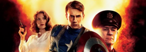 captain america the first avenger rare header photo hot sexy chris evans hayley atwell rare promo