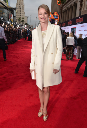 emily vandecamp on the red carpet at the iron man 3 world movie premiere hot sexy tony stark pepper potts