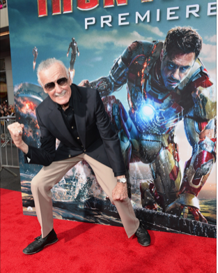 stan lee on the red carpet at the iron man 3 world movie premiere hot sexy tony stark pepper potts