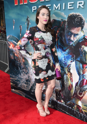 kat dennings on the red carpet at the iron man 3 world movie premiere hot sexy tony stark pepper potts