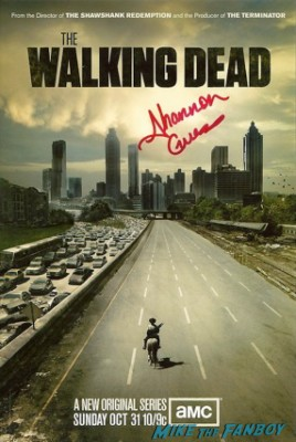 Shannon Guess signed autograph the walking dead rare promo one sheet movie poster promo
