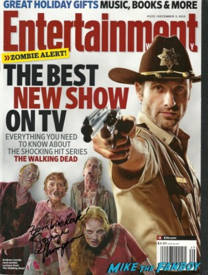 Sonya Thompson signed autograph the walking dead entertainment weekly magazine cover rare