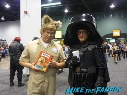 Space Balls Spaceballs: Dark Helmet and Barf cosplay wondercon 2013 rare rick moranis john candy wondercon 2013