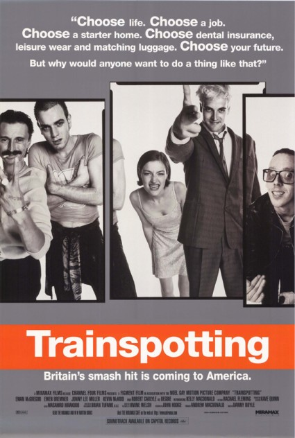 trainspotting promo movie poster rare ewan mcgregor hot sexy sick boy jonny lee miller ewan bremner