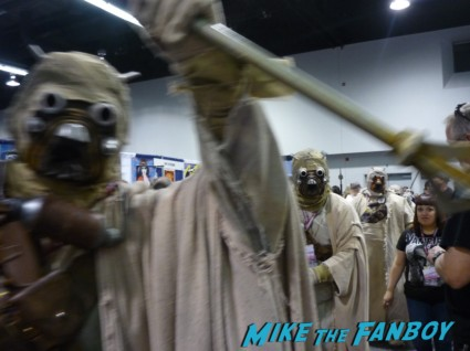 Tusken Raiders Star Wars: Tusken Raider (Sand People) Attack cosplay star wars wondercon 2013 rare