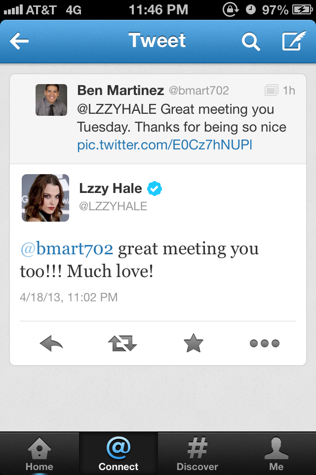 lzzy Hale twitter tweet rare promo hot promo Halestorm signed autograph photo rare band signed autograph rare promo LZZY Hale Joe Hottinger  Halestorm  Halestorm fan photo signing autographs for fans B-Mart  Arejay Hale hot sexy rare