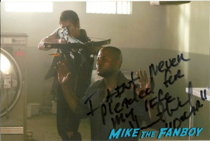 Vincent Ward signed autograph rare promo the walking dead norman reedus photo hot