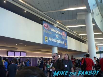 Welcome to WonderCon sign banner in front wondercon 2013