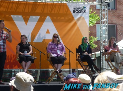 YA Stage Panel summet entertainment booth Atwood q and a The los angeles festival of books the novel strumpet 2013