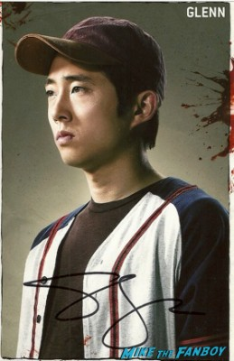 Steven Yeun signed autograph the walking dead rare promo photo hot rare fanmail address rare
