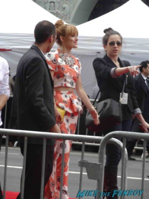 bella thorne arriving to the Iron Man 3 world movie premiere el capitan theater rare robert downey jr. rare promo