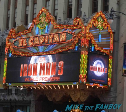 Iron Man 3 world movie premiere el capitan theater rare robert downey jr. rare promo