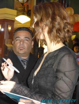 rebecca hall signing autographs at the Iron Man 3 world movie premiere el capitan theater rare robert downey jr. rare promo