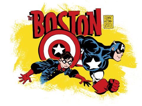 boston comic con logo rare promo hot captain america rare robin